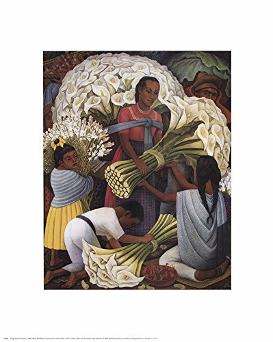 Flower Vendor by Diego Rivera Art Print, 16 x 20 inches