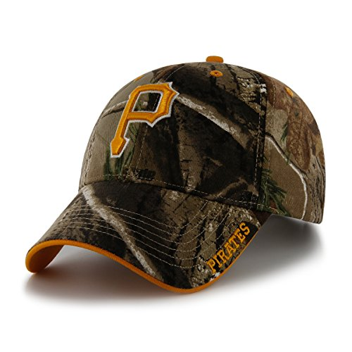 ('47 MLB Pittsburgh Pirates Frost MVP Camo Adjustable Hat, One Size Fits Most, Realtree Camouflage)