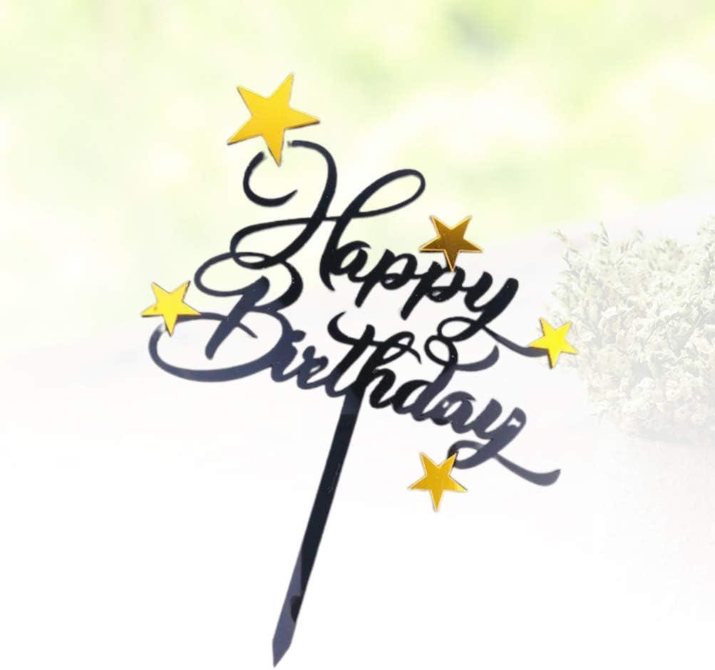 Amosfun toppers de cupcake de cumplea/ños happy birthday cartoon cupcake picks suministros de fiesta para reunir decoraci/ón de cumplea/ños