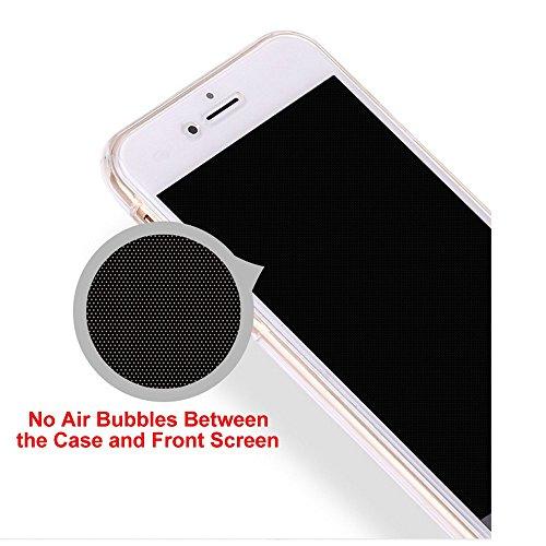 Coquille pour iPhone X,Souple Silicone Coque pour iPhone X,Leeook Créatif 360 Degré Full Body Protecion Rose Or Conception Absorption de Choc Bumper et Anti-Scratch Ultra Mince Case Cover de Bumper Ca
