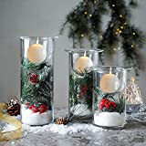 Whole Housewares Glass Hurricane Candle Holders
