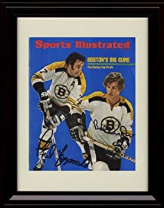 Framed Bobby Orr/Phil Esposito Sports Illustrated Autograph Replica Print - Boston Bruins - 5/8/1972
