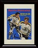 Framed Bobby Orr/Phil Esposito Sports Illustrated Autograph Replica Print - Boston Bruins - 5/8/1972