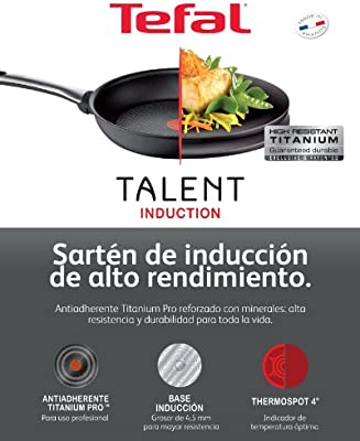 Tefal Talent - Sartén Grill 26x26 centímetros, Thermospot 4