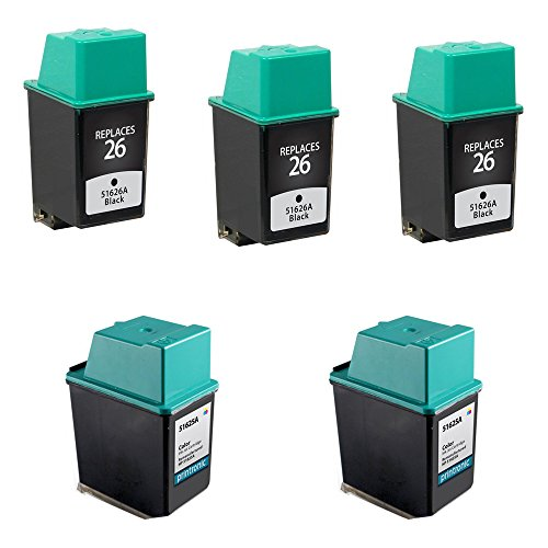 Amsahr 26(51626A)-SET5-3BK-2CL Samsung M2020 M2070 D111S MLT-D111S Compatible Replacement Toner - Includes One Black Cartridge (51626a Ink 26 Cartridge Black)