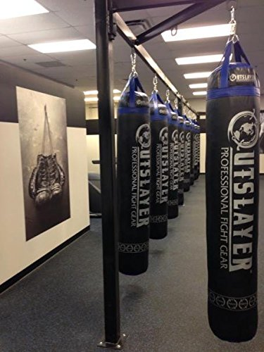 Muay Thai Punching Bag 6ft 150lbs Unfilled Black by Outslayer (Image #6)