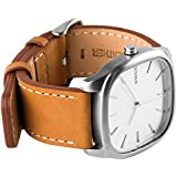 Sasqwatch Co. ICON Men's Analog Quartz Wristwatch, Silver Face, Silver Case, Tan Strap Sold by Viking Watch