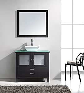 Samantha- 36 inch Modern Espresso Bathroom Vanity with
