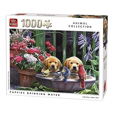King 5668 Cani Cuccioli Di Acqua Potabile Puzzle Da Pezzi 68 X 49 Cm