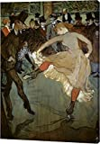 """This 15""""x22"""" premium giclee canvas art print of Dance at the Moulin Rouge - Detail by Henri Toulouse-Lautrec is created on the finest quality artist-grade canvas, utilizing premier fade-resistant archival inks that ensure vibrant lasting colors for y..."""