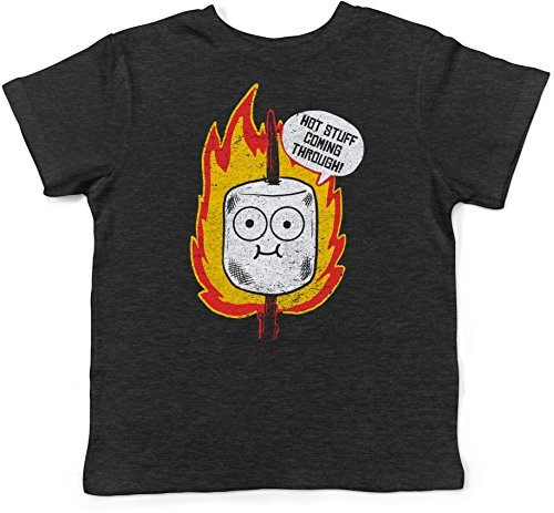 Rock Camp Rock Tee - Infant Hot Stuff Coming Through Tshirt Funny Marshmallow Campfire Smores Tee (Black) 12-18 Months