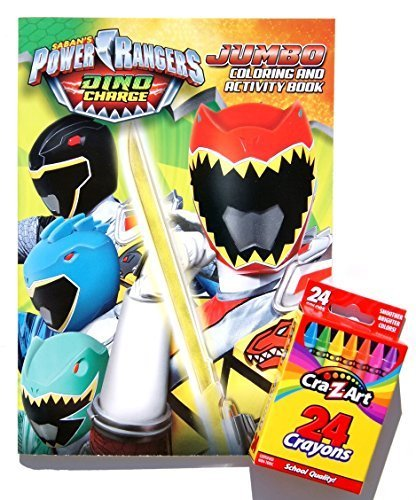 Saban's Power Rangers Dino Charge Jumbo Coloring and Activity Book with a Box of Crayons