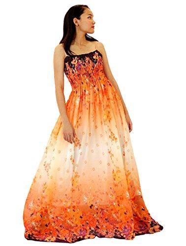 MayriDress Maxi Dress On Sale Plus Size Clothing Party Gift Idea Wedding Guest (Medium, Orange)