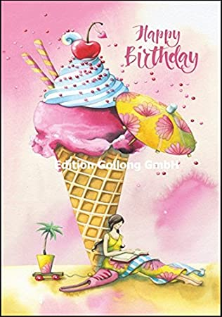 Tarjeta de felicitación de cumpleaños (Nina Chen * Mujer con ...