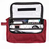 G.U.S Travel Media Pouch - Cord, Cable, and Cell Phone or Tablet Storage Pouch. Multiple Colors Available - Cabernet Red