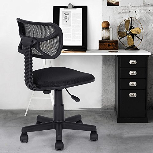 Azadx Home Office Desk Chair, ComputerTask Desk Office Chairs, Small Size Mesh Cloth Height Adjustable Chair for Kids Teens Gaming Studying (Black)