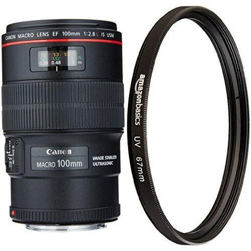 Canon EF 100mm f/2.8L IS USM Macro Lens with UV Protection Lens Filter [並行輸入品]   B07FPYCG6W