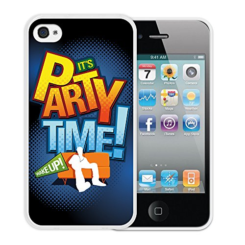 "WoowCase Hülle Case für { iPhone 4 iPhone 4S } Handy Cover Schutzhülle Satz - ""It's Party Time"""