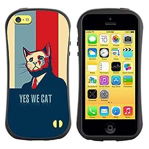 Suave TPU GEL Carcasa Funda Silicona Blando Estuche Caso de protección (para) Apple Iphone 5C / CECELL Phone case / / Funny Election Usa President Navy Blue /