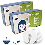 Baby Proofing Foam Door Stopper by Wittle (Two 4-Packs). Guard Little Fingers from Getting Pinched Due to Slamming Doors!