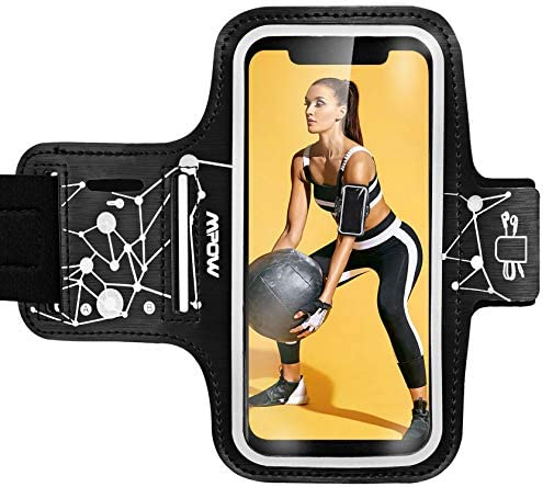 "Mpow Running Armband for iPhone 11 Pro 11 Xr XS X 8 7 6 SIX Samsung Galaxy S9 S8 Up to 5.3"", Running Phone Armband"