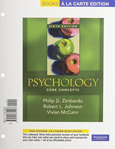Psychology: Core Concepts, Books a la Carte Plus MyPsychLab Pegasus (6th Edition)