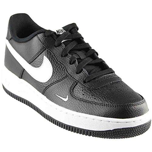 Nike Air Force 1 Low GS Big Kids Basketball Shoes Black/White, 6