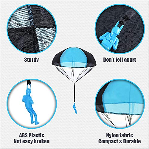 AmFor 10 Pcs Parachute Toys, Kids Tangle Free Throwing Toys Outdoor Flying Toys with Hand Throwing No Batteries for Boys Girls Holiday Birthday Gifts by AmFor (Image #2)