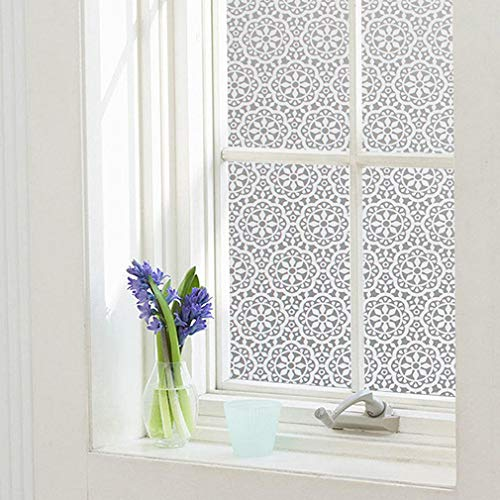 Window Privacy Film Static Window Clings Vinyl Non-Adhesive Window Stickers Frosted Window Film Tint for Glass Door Home Heat Control Anti UV 17.5 x 78.7 Inches