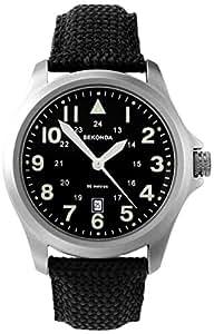 SEKONDA 3347.27 - Reloj de cuarzo para hombres, correa de nailon, color negro