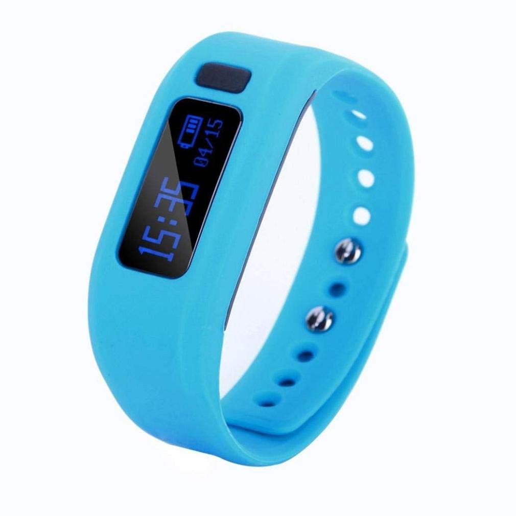 Fashion Clearance! Noopvan Bracelet Activity Fitness Health Tracker Monitor Bluetooth Smart Bracelet with Sleep Monitor Pedometer for Android and iOS Smartphones (Blue)