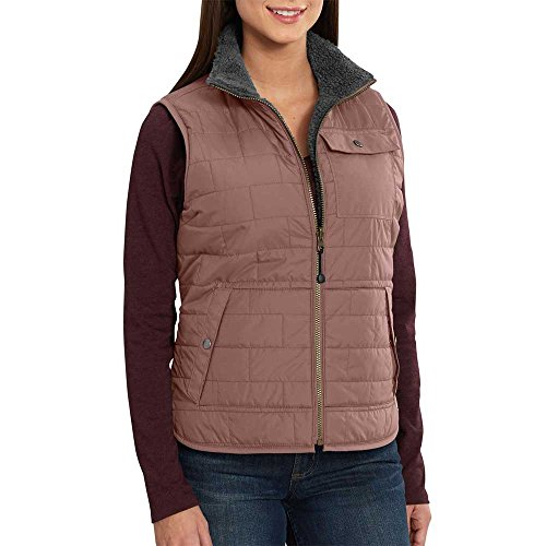 Carhartt Women's Amoret Sherpa Lined Vest, Burl Wood, L -