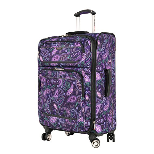 - Ricardo Beverly Hills Mar Vista 4 Wheel Expandable Upright, Purple Paisley