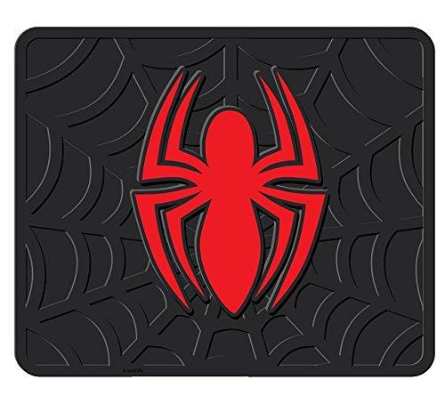 INC U.A.A 4pcs Spiderman Black W//RED Front /& Rear Rubber Floor MATS Set CAR Trucks
