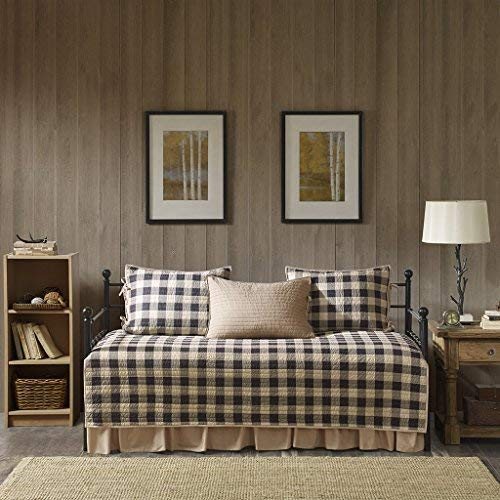 (Woolrich Buffalo Check Day Bed Cover Se, Daybed, Tan)
