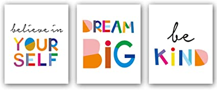 Pair of prints watercolour and quote inspirational prints