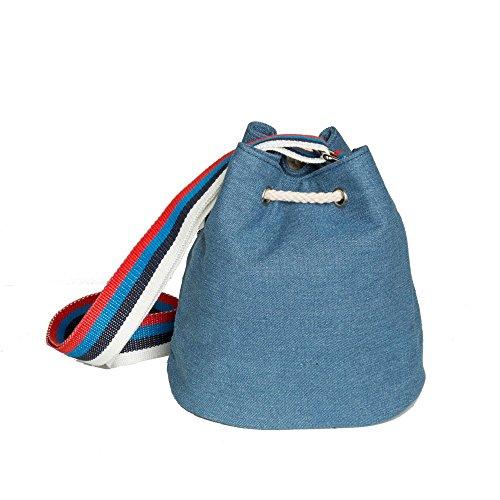 81031201 Azul medium de 02 Codello azul Bolso para hombro Denim al mujer fdqWp6aCUw