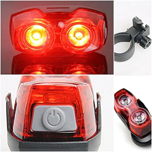 Superb 2x LED 3 Modes Popular Bike Light Super Bright Rear Bicycle Waterproof Lamp Color - Super Rear Shackles