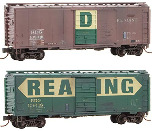 Used, Micro-Trains MTL N-Scale 40ft Box Cars Reading (Weathered/Switched for sale  Delivered anywhere in USA