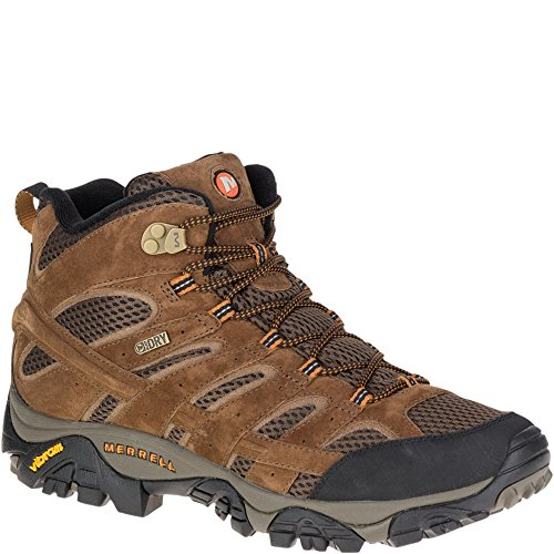 Merrell Men's Moab 2 Mid Waterproof Hiking Boot, Earth, 13 M - Online England Shop