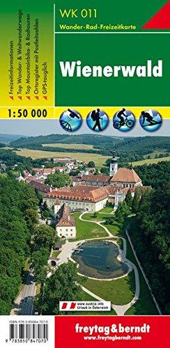Wienerwald, Wanderkarte 1:50.000, WK 011, freytag & berndt Wander-Rad-Freizeitkarten