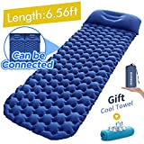 Sleeping Pad Ultralight Camping Mattress 6.56Ft Lightweight Air Sleeping Mat Portable Comfortable Inflatable