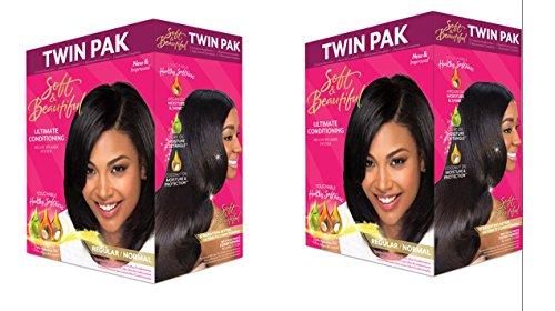 beautiful TWIN PAK Ultimate Conditioning RELAXER REGULAR (Soft & Beautiful Hair Relaxer)