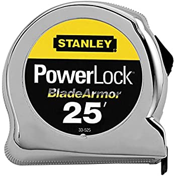 Stanley 33-525 25-Foot-by-1-Inch PowerLock Tape Rule with Blade Armor