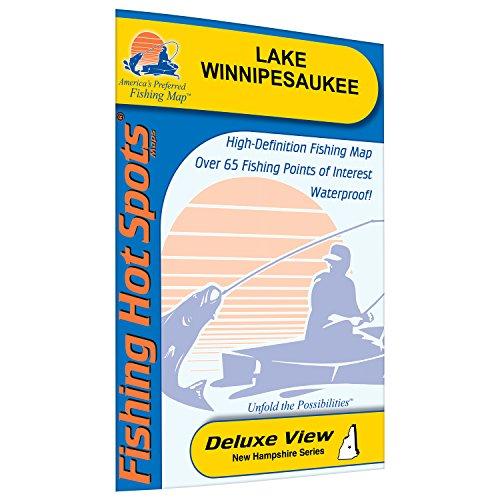 Winnipesaukee Fishing Map, Lake (Waterproof Fishing Map)