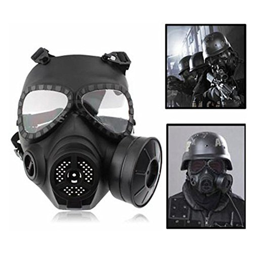 Airsoft Paintball CS Mask Wargame Cosplay Face Gas Mask Protective Gear (Black) (Fallout Cosplay Buy)