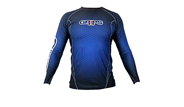 Grips Athletics Mens Wasp Long Sleeve Rashguard Blue