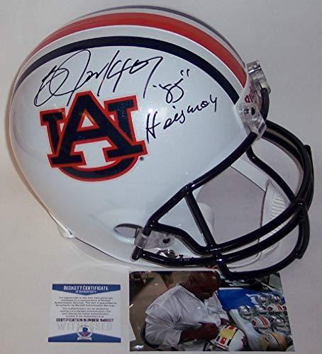 (Bo Jackson Autographed Hand Signed Auburn Tigers Full Size Football Helmet - with 85 Heisman Inscription - BAS Beckett)