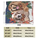 Yulimin Merry Christmas American Cocker Spaniel Dog Full Fleece Throw Cloak Wearable Blanket Nursery Bedroom Bedding Decor Decorations Queen King Size Flannel Fluffy Plush Soft Cozy Comforter Quilt 8
