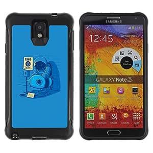 Be-Star único patrón Impacto Shock - Absorción y Anti-Arañazos Funda Carcasa Case Bumper Para SAMSUNG Galaxy Note 3 III / N9000 / N9005 ( Funny Man On The Moon )